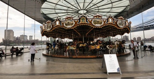 Carrousel with a view.