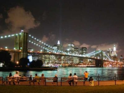 DUMBO by night.