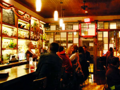 A bar in Bushwick.