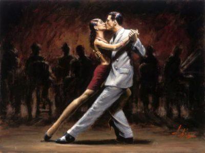 Tango dancers.
